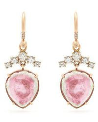 Irene Neuwirth - Diamond, Tourmaline & Rose-gold Earrings - Lyst