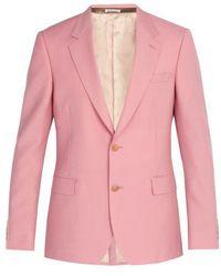 Alexander McQueen - - Wool Blend Suit Jacket - Mens - Light Pink - Lyst