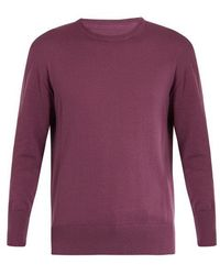Officine Generale - Luca Crew-neck Cotton-knit Sweater - Lyst