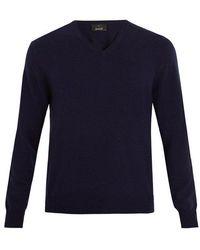 Allude - V-neck Cashmere Sweater - Lyst