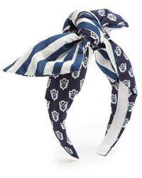 Benoit Missolin - Laureto Graphic-print Cotton Headband - Lyst