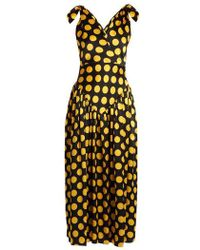 Duro Olowu - Large Polka-dot Print Silk-satin Gown - Lyst
