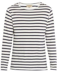 Burberry - Hadworth Long-sleeved Striped Cotton T-shirt - Lyst