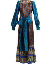 Rianna + Nina - Callas Silk Midi Dress - Lyst
