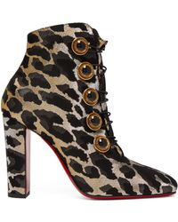 c569ef7891b3 Christian Louboutin - Lady See 100 Leopard Print Ankle Boots - Lyst