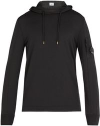 C P Company - Lens Hooded Cotton Sweatshirt - Lyst