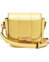 7506b26b70 Saint Laurent Université Monogram Leather Cross-body Bag in Metallic ...