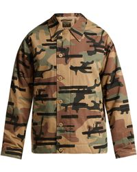 Maharishi - Camouflage Print Cotton Blend Jacket - Lyst