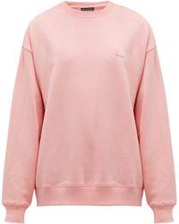 Acne Studios Fairview Face Cotton Sweatshirt - Pink