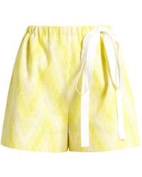 Rochas - Chevron-jacquard Cotton-blend Shorts - Lyst