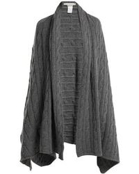 Queene And Belle - Aspen Cable-knit Cashmere Wrap - Lyst