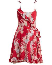 Athena Procopiou - Heartbeats V-neck Floral-print Dress - Lyst