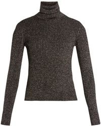 Saint Laurent - Roll-neck Ribbed Jumper - Lyst