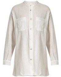 Loup Charmant - Hafia Band-collar Cotton Shirt - Lyst