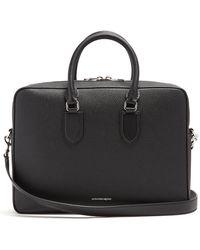 Alexander McQueen - Logo-print Grained-leather Briefcase - Lyst