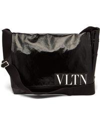 Valentino - Vltn Coated-twill Messenger Bag - Lyst