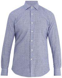 Glanshirt   Long-sleeved Slim-fit Cotton Shirt   Lyst