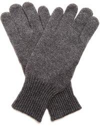 Brunello Cucinelli - Cashmere And Suede Gloves - Lyst