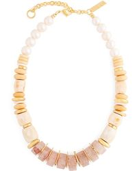 Lizzie Fortunato - Pink Sands Beaded Necklace - Lyst