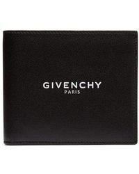 Givenchy - Logo-stamped Bi-fold Leather Wallet - Lyst