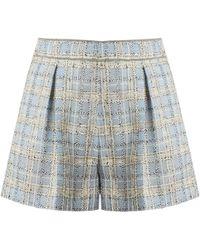 Miu Miu - Mid-rise Wool-blend Tweed Shorts - Lyst