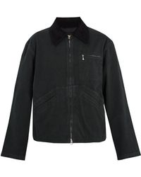 Acne | Marlon Point-collar Cotton Jacket | Lyst