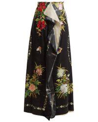 By Walid - Rawan-wisteria Print Skirt - Lyst