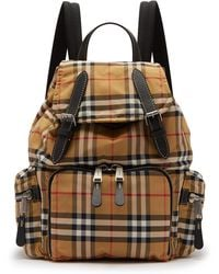 Burberry - Vintage Check Canvas Backpack - Lyst