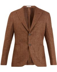 Boglioli - Single Breasted Wool Blend Blazer - Lyst