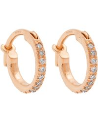 Ileana Makri - Diamond & 18kt Rose Gold Earrings - Lyst