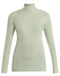 Prada - High-neck Ribbed-knit Jumper - Lyst