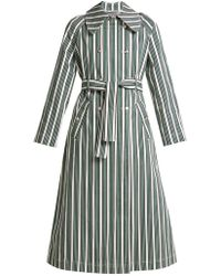 ALEXACHUNG - Striped Cotton-blend Trench Coat - Lyst