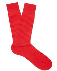 Pantherella - Danvers Ribbed-knit Socks - Lyst