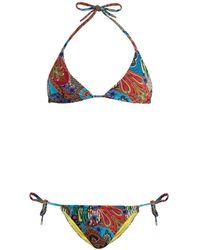 Etro - Abstract Paisley-print Bikini - Lyst