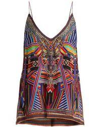 Camilla - Tsachila Blessing-print Silk Cami Top - Lyst