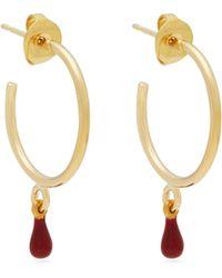 Isabel Marant - Casablanca Teardrop Hoop Earrings - Lyst