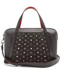 Christian Louboutin - Bagdamon Spike-embellished Leather Holdall - Lyst