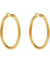 Theodora Warre - Twisted Gold Plated Hoop Earrings - Lyst