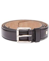 AMI - Leather Belt - Lyst
