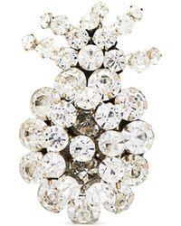 N°21 - Crystal Embellished Pineapple Pin Brooch - Lyst