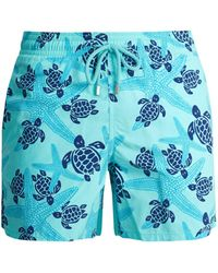 Vilebrequin | Moorea Starlettes And Turtles-print Swim Shorts | Lyst