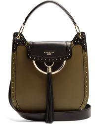 Balmain - Domaine 33 Leather Shoulder Bag - Lyst