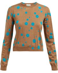 Isa Arfen - Flocked Polka Dot Wool Jumper - Lyst