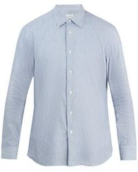 Brioni | Striped Cotton-linen Shirt | Lyst