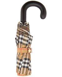 Burberry - Parapluie pliable Vintage check - Lyst