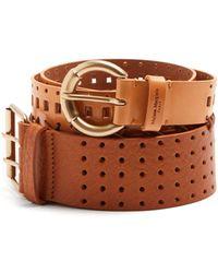 Maison Margiela - Perforated Double Leather Belt - Lyst