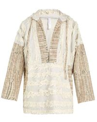 Cottweiler - Faux-shearling Trimmed Hooded Cotton-blend Jacket - Lyst