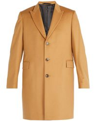 Paul Smith - Single-breasted Wool And Cashmere Overcoat - Lyst