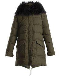 Mr & Mrs Italy - Mongolian-fur Lined Padded Coat - Lyst