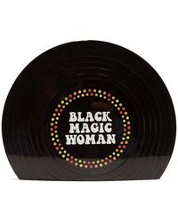 Sarah's Bag - Black Magic Woman Perspex Clutch - Lyst